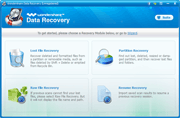 Data Recovery: main interface