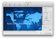 DMG Archiver for Mac: add texts and pictures to background