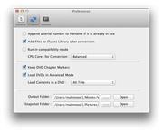 DVD Ripper Mac: set preferences