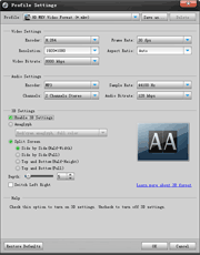 DVD Ripper: output settings