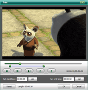 DVD to iPad Converter: trim video