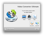 Video Converter Mac: welcome interface