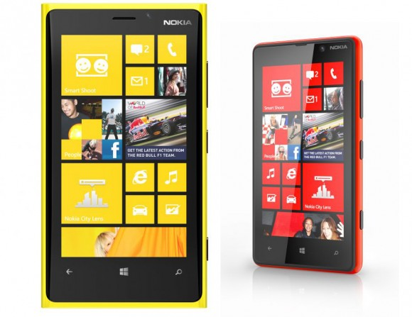 Nokia Lumia 920 and Nokia Lumia 820