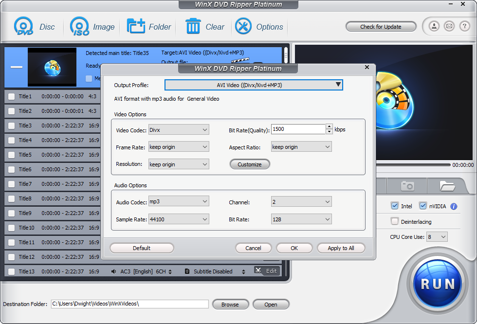 How to convert DVD to DivX with DVD to DivX Converter