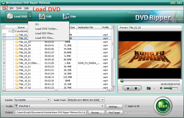 Load DVD