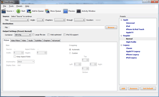 Best free DVD ripper #8: Handbrake