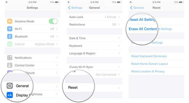 Erase iOS device