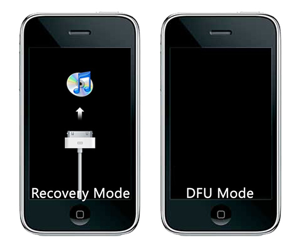 iPhone recovery mode vs DFU mode