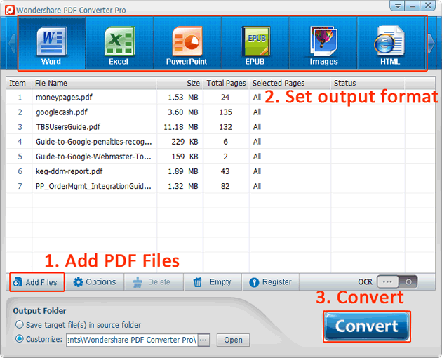PDF conversion guide