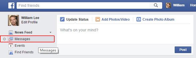 Visit Facebook messages page