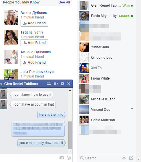 Unarchive Facebook messages