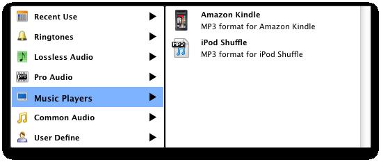 Video Converter Ultimate Mac: set output audio profile