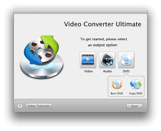 Video Converter Ultimate Mac: set output option