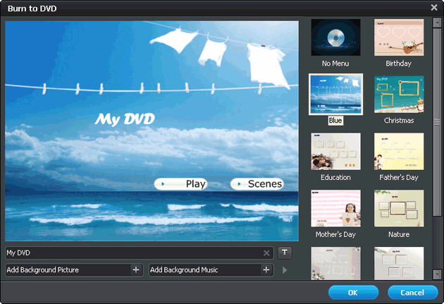Create DVD menu