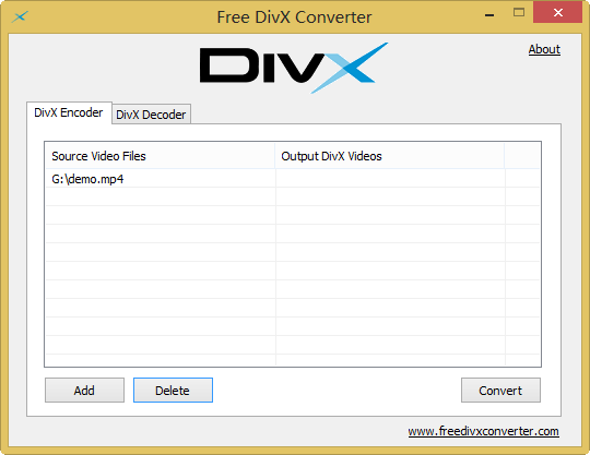 Convert MP4 to DivX for free