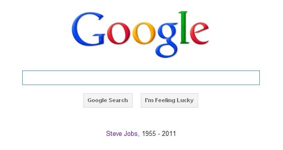 Google remember Steve Jobs