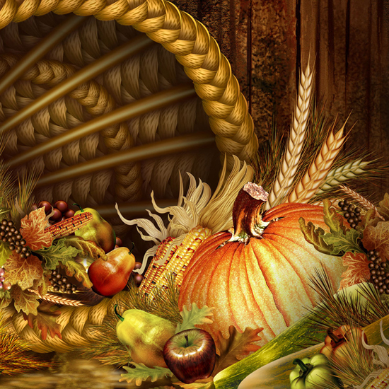 Free Thanksgiving Wallpapers for iPad: Bumper Harvest 18