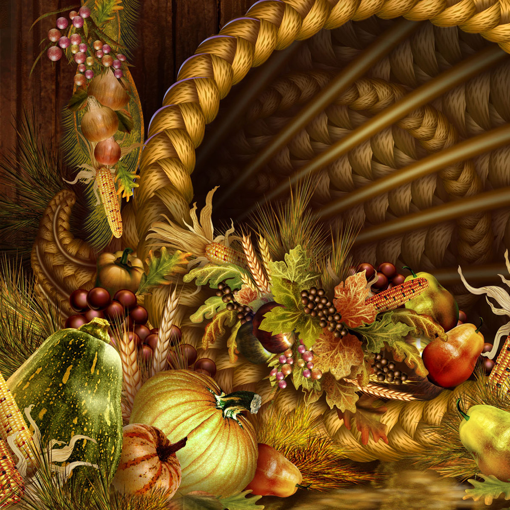 Free Thanksgiving Wallpapers For IPad: Bumper Harvest