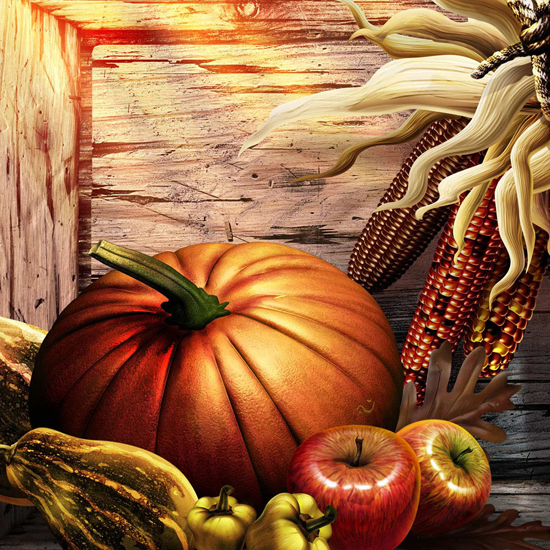 Free Thanksgiving Wallpapers for iPad: Bumper Harvest 8