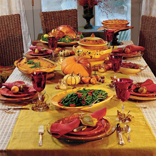 Free Thanksgiving Wallpapers for iPad: Table Decorations 1