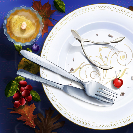 Free Thanksgiving Wallpapers for iPad: Table Decorations 13