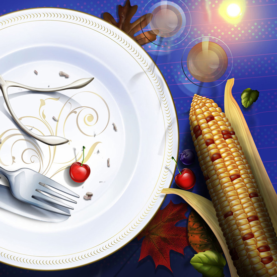 Free Thanksgiving Wallpapers for iPad: Table Decorations 14