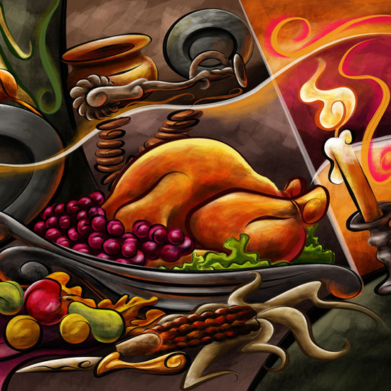 Free Thanksgiving Wallpapers for iPad: Table Decorations 24